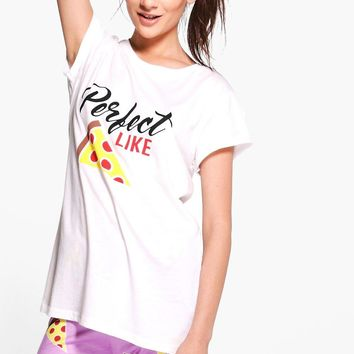 Amelie Perfect Like Pizza Jogger And Tee | Boohoo