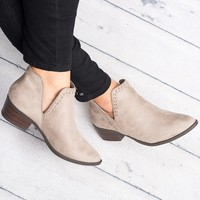 Nerys Cutout Booties - Clay
