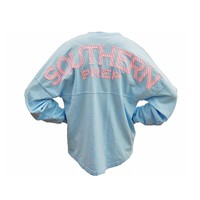 Palmetto Moon | Southern Prep Seersucker Long Sleeve Spirit Jersey