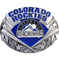 Colorado Rockies MLB Enameled Belt Buckle