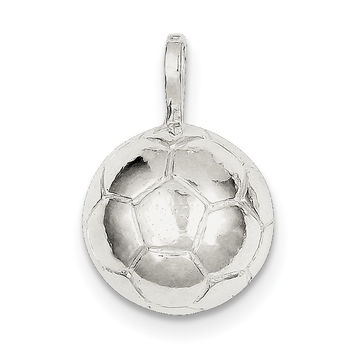 Sterling Silver Soccer Ball Charm QC702