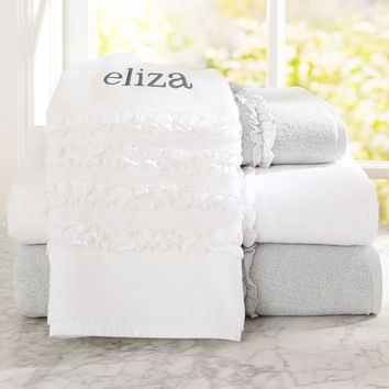 Ruffle Bath Towels