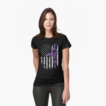 'Fighting Flag T-Shirt Epilepsy Awareness' T-Shirt by hillsanty