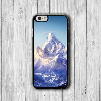 Beautiful Ice Mountain Abstract iPhone 6 Cases, Abstract Everest iPhone 5S, iPhone 6 Plus , iPhone 4S Hard Case Rubber Deco Accessorie Cover
