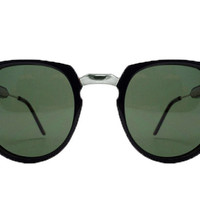 Spitfire - Teddy Boy 2 Black & Silver Sunglasses, Black Lenses