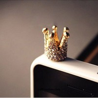 Diamond Crystal Crown iPhone 4s Cell Plug from LOOBACK