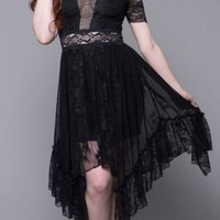 Widow | Seance Lace Handkerchief Dress - Buy Online Australia Tragic Beautiful
