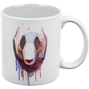 DCCKJY1 Watercolor Drip Panda White All Over Coffee Mug