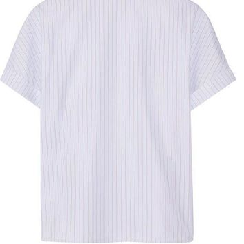 ONETOW balenciaga pinstriped cotton poplin top 2