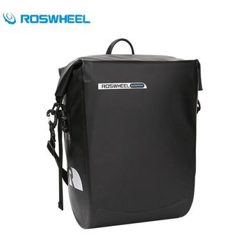 ROSWHEEL Cycling Bike Rack Bag Waterproof Pannier Adjustable Shoulder Strap Mountain Road MTB Bikes Rear Seat Trunk Bicycle Bag