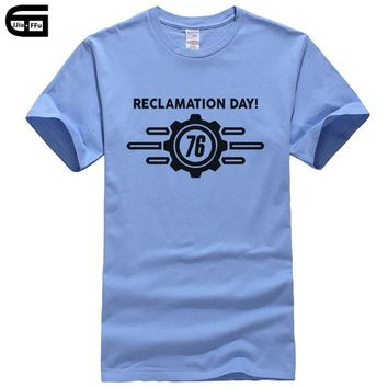 2018 Fallout Vault 76 Our Future Begins Men's Game T-Shirt fashion cool tees harajuku tshirt detroit become human t shirt T264