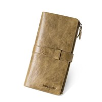 Vintage Style Zipper Pouch Long Wallet