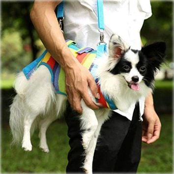 Multi Function Dog Carrier Bag dog with Leash Rope,Dogs Slings Harness Carrier Bag with Shoulder Stripe Pets Supplier PP008c