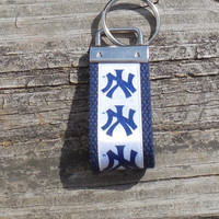 NY Yankess, Mini Key Holder, Key Ring, Key Fob, Key Chain