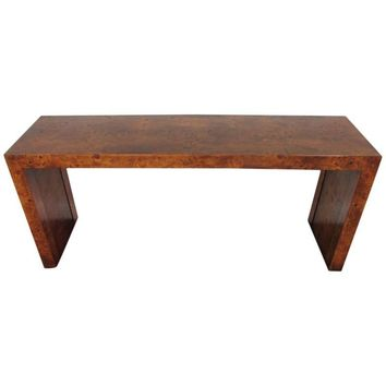 Pre-owned Burl Wood Console Table by Milo Baughman