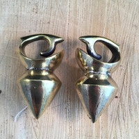 brass spinning top weights ear weights