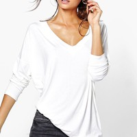 Tall Riane Oversized Long Sleeve Top | Boohoo