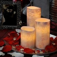 Flameless Candles-Set of 3