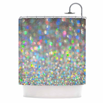 """Chelsea Victoria """"Sparks Fly"""" Multicolor Digital Shower Curtain"""
