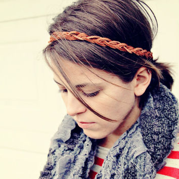 The Boho Band Bohemian Braid Headband Indie by adelitakelly