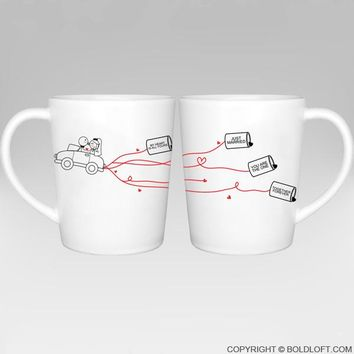 Happily Ever After™ Bride & Groom Coffee Mugs, Wedding Gifts for the Couple,Wedding Gifts for Bride and Groom,Newlywed Gifts,Engagement Gifts for Couples, Bridal Shower Gifts