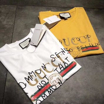 Gucci Coco Summer Round neck Short sleeves T-Shirt Top Tee