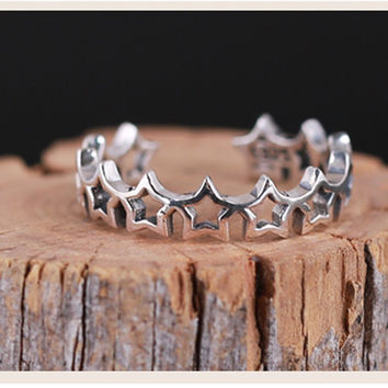 New Arrival Jewelry Shiny Gift Stylish 925 Silver Hollow Out Accessory Fashion Ring [7652916999]
