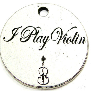 I Play Violin Genuine American Pewter Charm