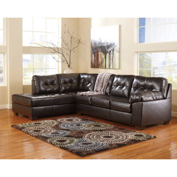 Alliston Sectional in Chocolate DuraBlend