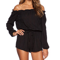 AUGUSTE Nomad Romper in Black
