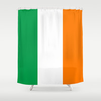 National flag of the Republic of Ireland - Authentic 3:5 Version Shower Curtain by LonestarDesigns2020 - Flags Designs +