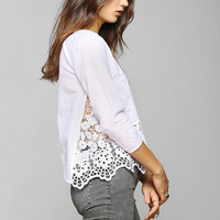 Kimchi Blue Holly Lace Blouse - Urban Outfitters