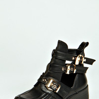 Amber Buckle Cut Out Chunky Boot