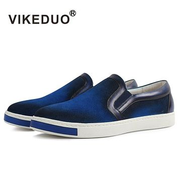 Handmade Vintage Designer Leisure Fashion Luxury Male Shoe Genuine Leather Mens Skateboard Casual Shoes