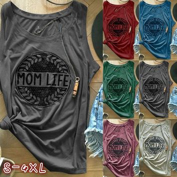6 Color Unisex Letter Print Casual Sleeveless Tank Top Fashion Street Style Brief Summer Fashion O-neck Men Women Pullover Tunic