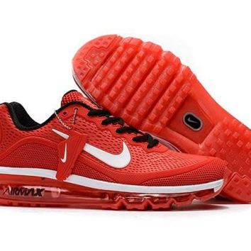 Nike Air Max 2017. 5 KPU Red, White & Black Men's Running Shoes Sneakers
