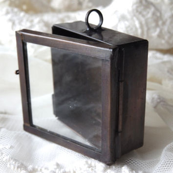 1- Square Shadow Box Pendant Display Glass Locket Deep Shadow Box Pendant Diy Jewelry Making Supplies