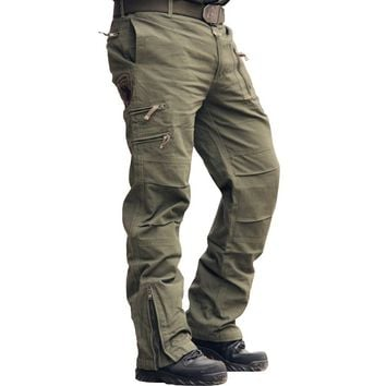 Airborne Jeans Casual Training Cotton Breathable Multi Pocket Military Army Camouflage Cargo Pants Trousers for Men