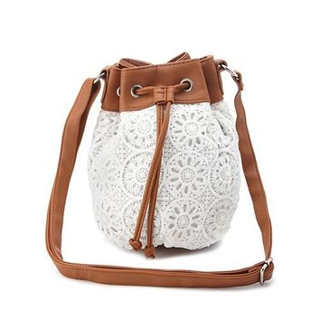 Crochet Cross-Body Bucket Bag