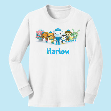 Personalized Disney's Octonauts personalized long sleeve T shirts