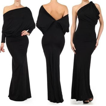 Multiway Jersey Long Special Occasions Maxi Dress