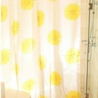 Waterproof Sunflowers Bathroom Shower Curtain (170*200cm)