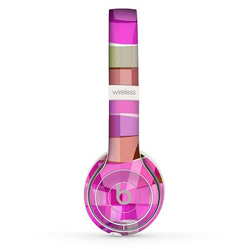 The Bright Translucent Wave Pattern V2 Skin Set for the Beats by Dre Solo 2 Wireless Headphones
