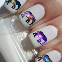 Galaxy Elephant Nail Decals