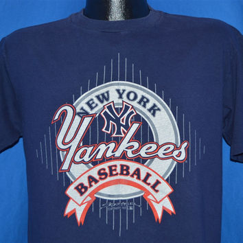 90s New York Yankees Baseball 1991 NY Logo t-shirt Large