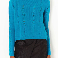 Knitted Ladder Stitch Jumper - Topshop USA