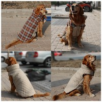 HOT S-3XL Reversible dog winter clothes four colors winter jacket for large dogs Medium dogs winter warm clothing for large pet