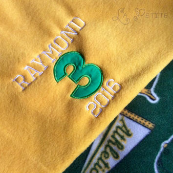 Embroider blanket, sports blanket, baseball fleece, team fleece, memory blanket, sports team, custom blanket, boys blanket, fleece blanket,