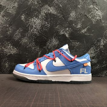 Off-White x Futura x Nike Dunk Low Leather Collection UNC - Best Deal Online