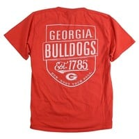 Georgia Bulldogs Blue 84 Pocket T-Shirt | UGA Blue 84 Pocket T-Shirt | Georgia Bulldogs Pocket Tee